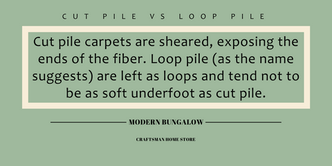 Cut Pile vs Loop Pile Graphic