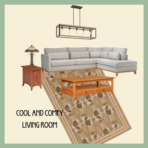 Cool and Comfy Living Room