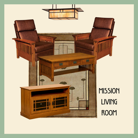 Mission style living room