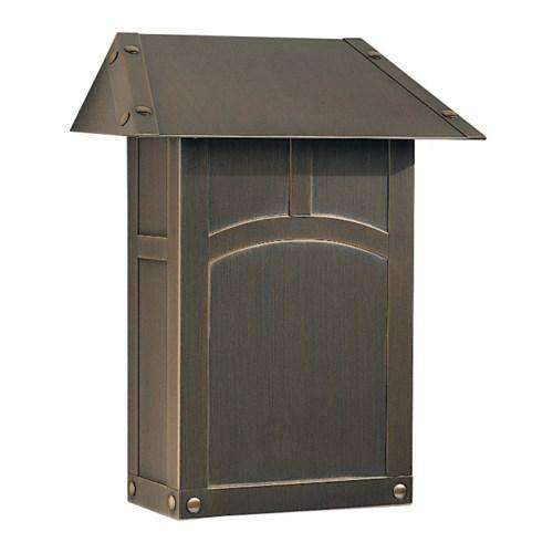 Arroyo Craftsman Exterior Decor Evergreen Mail Box