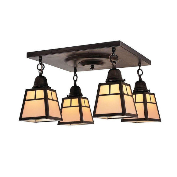 a-line shade 4 light ceiling mount fixture by arroyo lighting