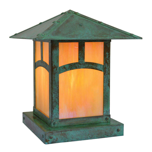 Arroyo Craftsman Exterior Lighting Evergreen column mount