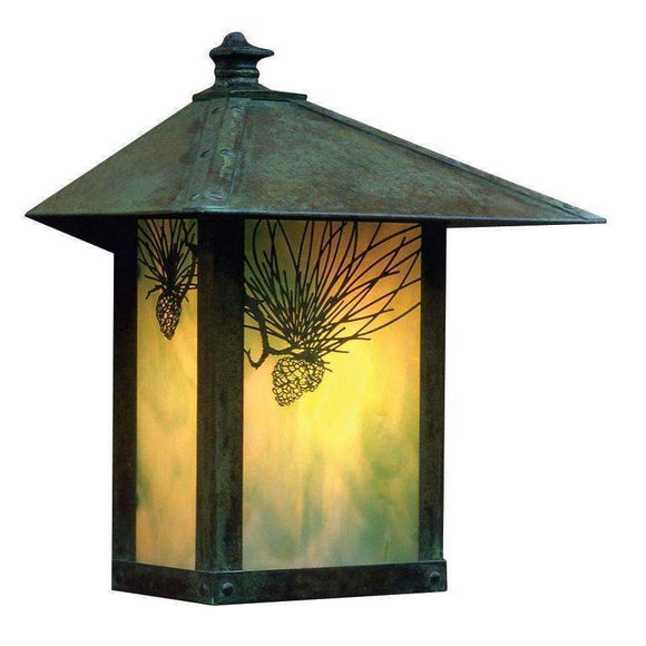 Arroyo Craftsman Exterior Lighting Evergreen flush wall mount