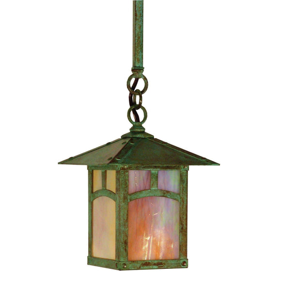 Arroyo Craftsman Exterior Lighting Evergreen stem hung pendant