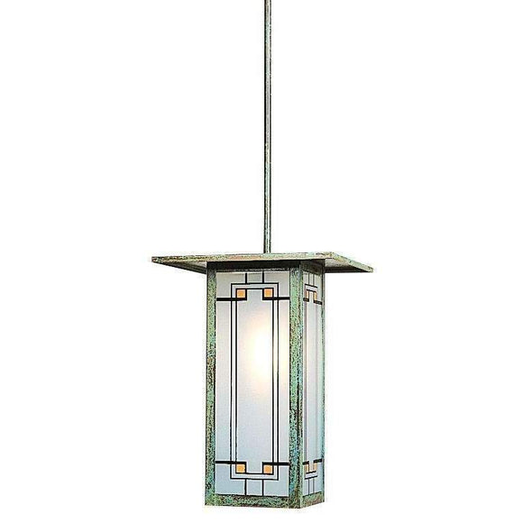 Arroyo Craftsman Exterior Lighting Franklin long body stem hung pendant