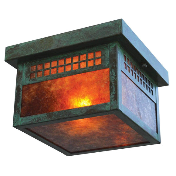 Arroyo Craftsman Exterior Lighting Glasgow flush ceiling mount