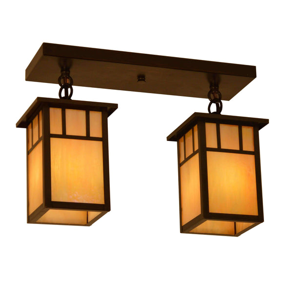 Arroyo Craftsman Exterior Lighting Huntington 2 light ceiling mount