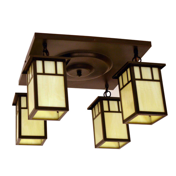 Arroyo Craftsman Exterior Lighting Huntington 4 light ceiling mount