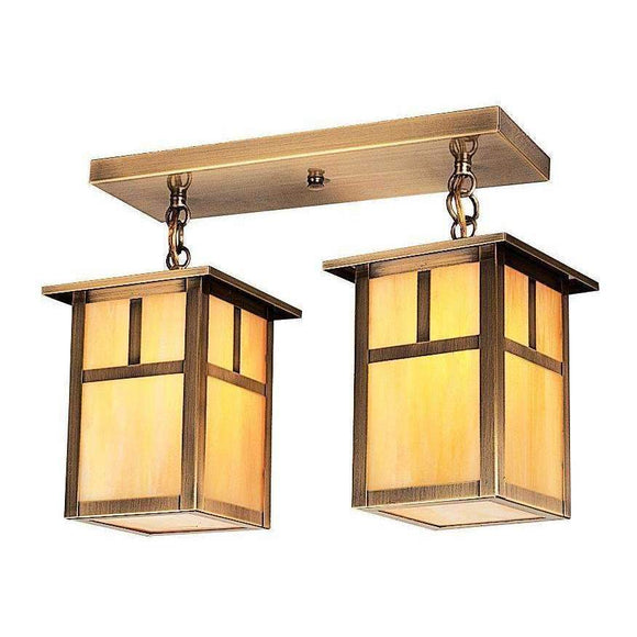 Arroyo Craftsman Exterior Lighting Mission 2 light ceiling mount