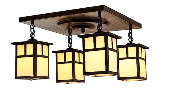 Arroyo Craftsman Exterior Lighting Mission 4 light ceiling mount