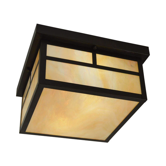 mission flush ceiling mount exterior light by arroyo craftsman