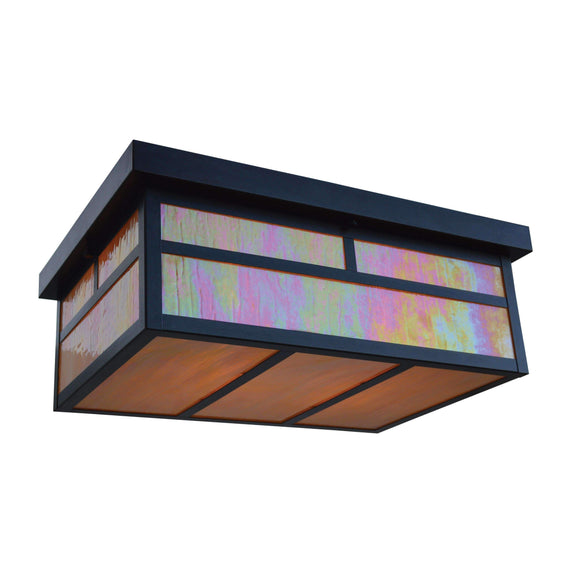 Arroyo Craftsman Exterior Lighting Mission flush ceiling mount- Long