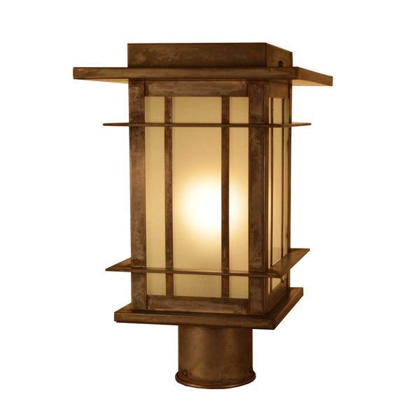 Arroyo Craftsman Exterior Lighting Oak park post mount