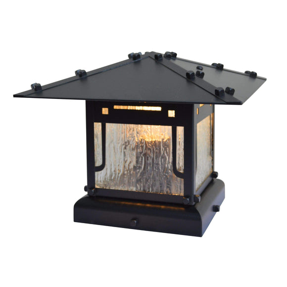 Arroyo Craftsman Exterior Lighting Pagoda column mount