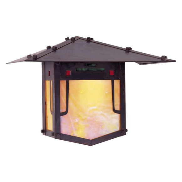Arroyo Craftsman Exterior Lighting Pagoda flush wall mount