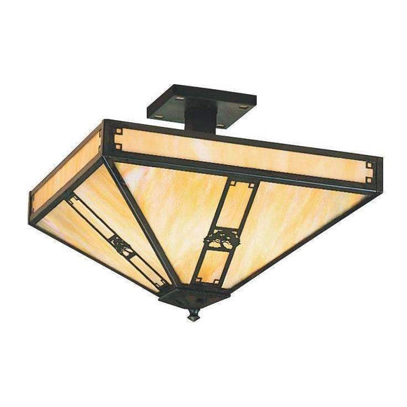 Arroyo Craftsman Exterior Lighting Pasadena inverted ceiling mount