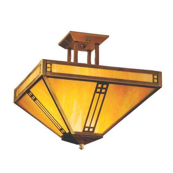Arroyo Craftsman Exterior Lighting Prairie inverted ceiling mount
