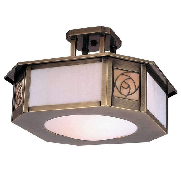 Arroyo Craftsman Exterior Lighting Saint clair inverted semi-flush ceiling mount