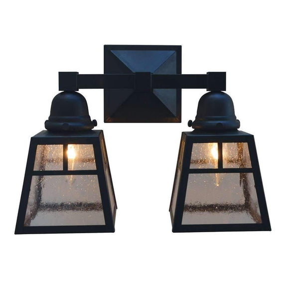 a-line shade 2 light sconce by arroyo craftsman