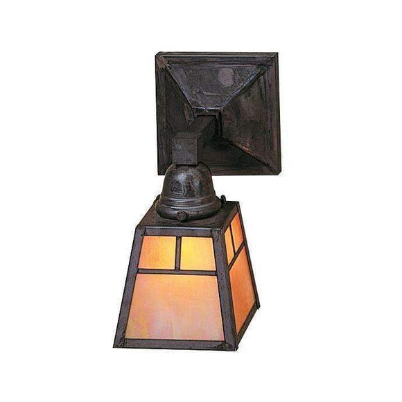 Arroyo Craftsman Interior Lighting A-line shade one light sconce