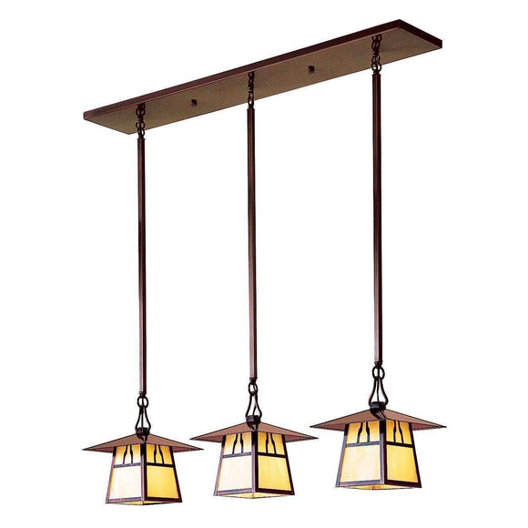 Arroyo Craftsman Interior Lighting Carmel 3 light in-line chandelier