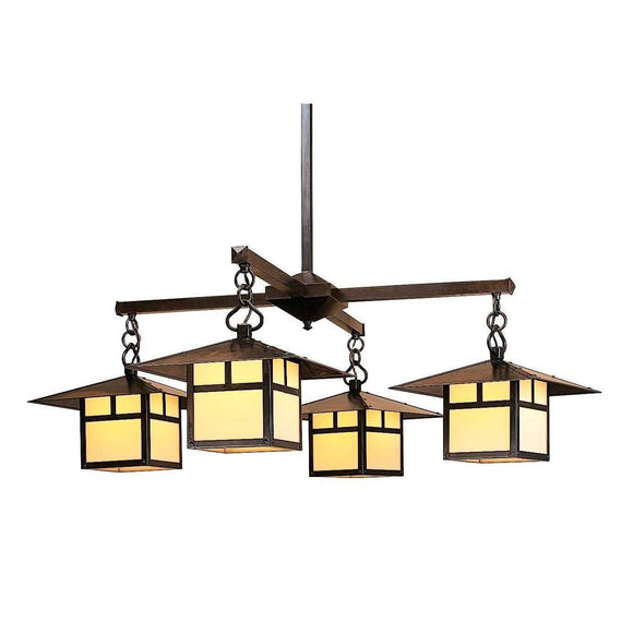 Arroyo Craftsman Interior Lighting Monterey 4 light chandelier