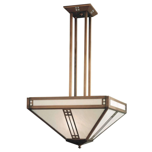 Arroyo Craftsman Interior Lighting Prairie inverted chandelier