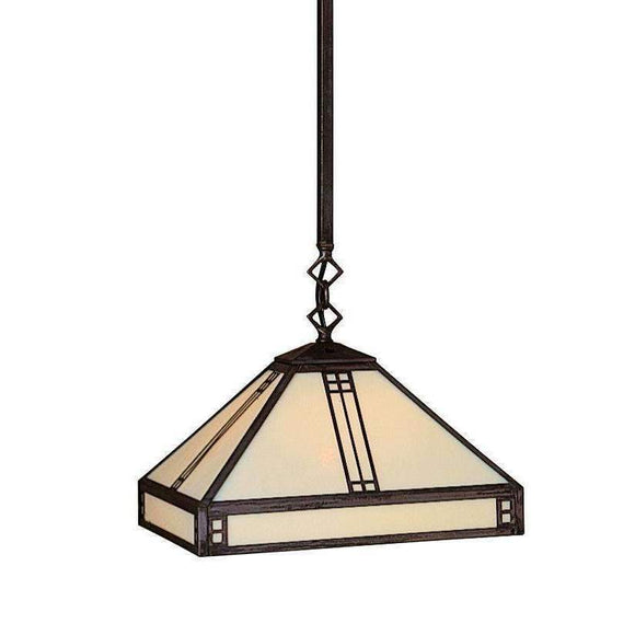 Arroyo Craftsman Interior Lighting Prairie stem hung pendant