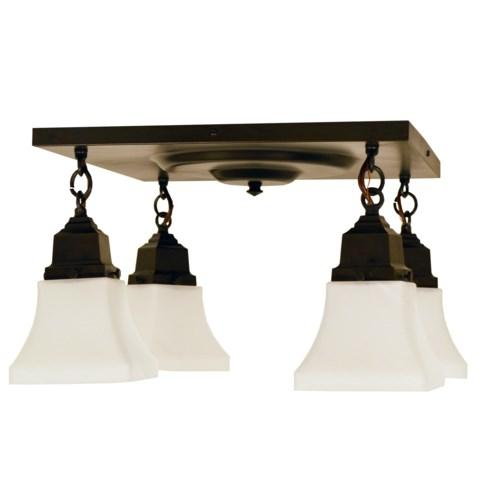 Ruskin 4 Light Ceiling Mount by Arroyo Craftsman