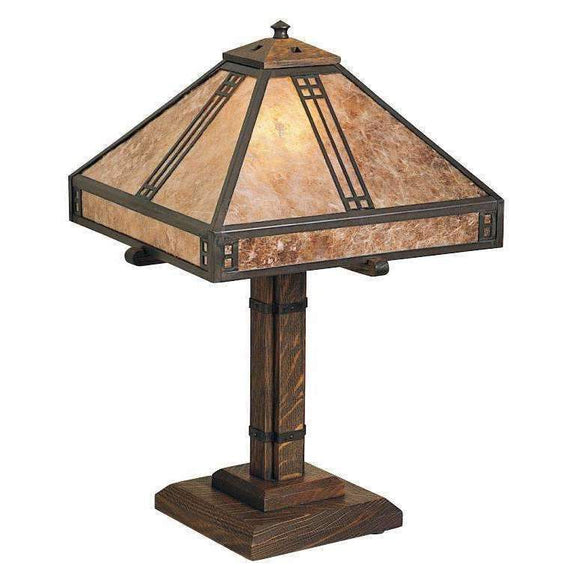 Arroyo Craftsman Lamps Prairie table lamp
