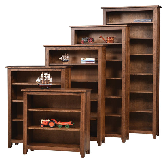 Ashery Oak Office Simple Shaker Bookcase