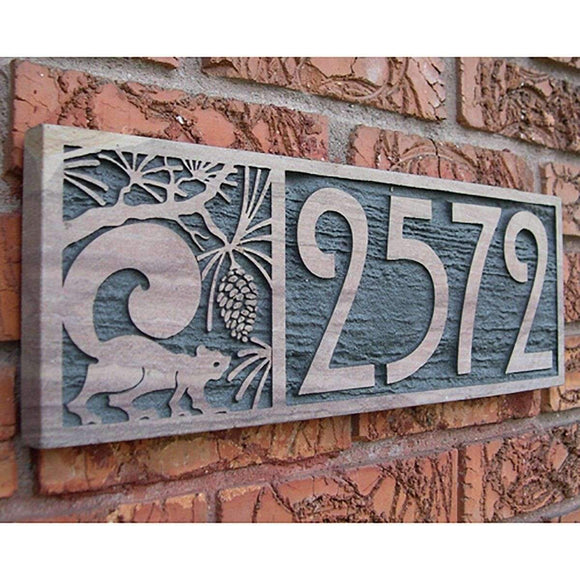 ASM Studio Exterior Decor Sandstone Address Plaque