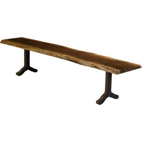 Live Edge Dining Bench- Strada Base by Barkmans