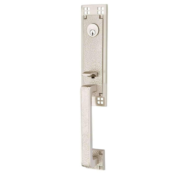 Emtek Hardware Craftsman Entry Lock Set- Satin Nickel Mortise 2-1/2 (mortise) Left