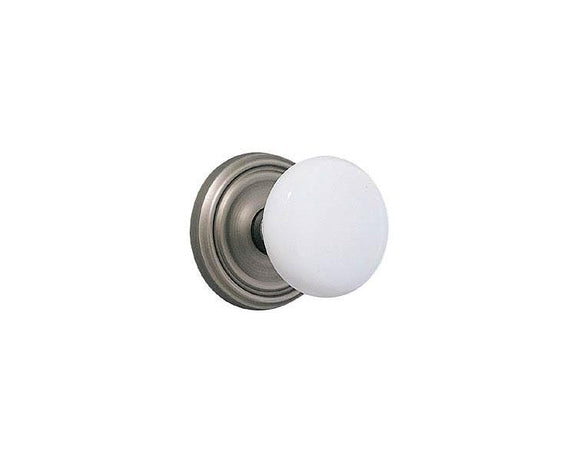 Emtek Hardware Ice White Knob Set