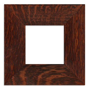 Family Woodworks Tile Single Tile Frame fits 4x4 tile 2 inch width Dark Mission Cherry