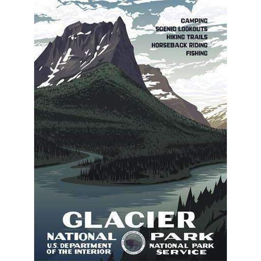 Ford Craftsman Decor Glacier National Park Poster