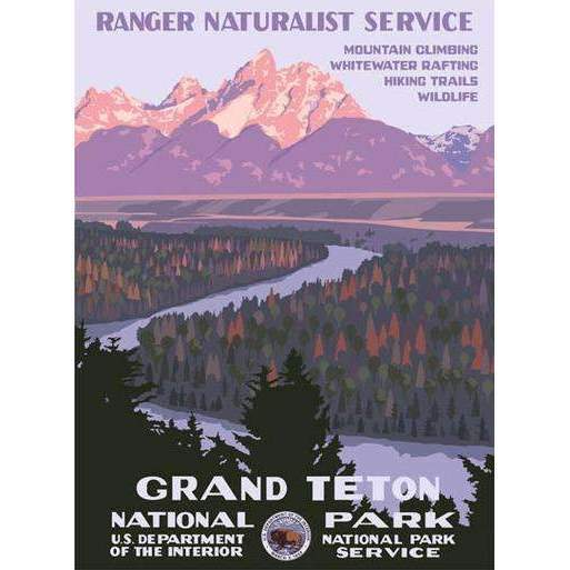 Ford Craftsman Decor Grand Tetons National Park Poster
