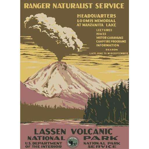 Ford Craftsman Decor Lassen Volcano Poster