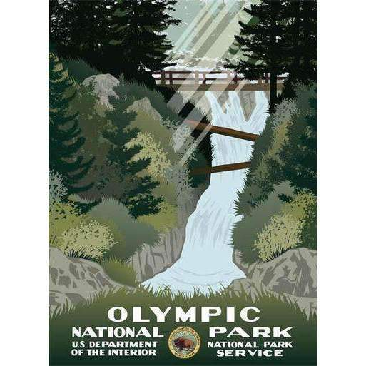 Ford Craftsman Decor Olympic National Park Poster