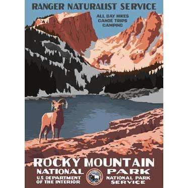 Ford Craftsman Decor Rocky Mountain National Park Poster