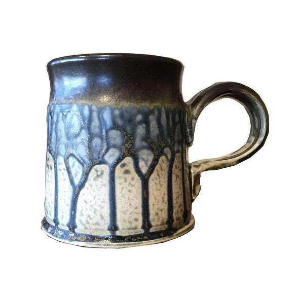Frank Stofan Decor Clay Coffee Mug-Blue