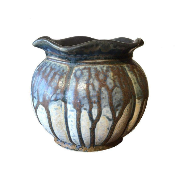 Frank Stofan Decor Delilla Medium Vase - Blue