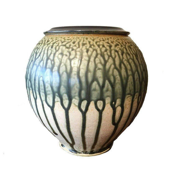 Frank Stofan Decor River Clay Vase - Green