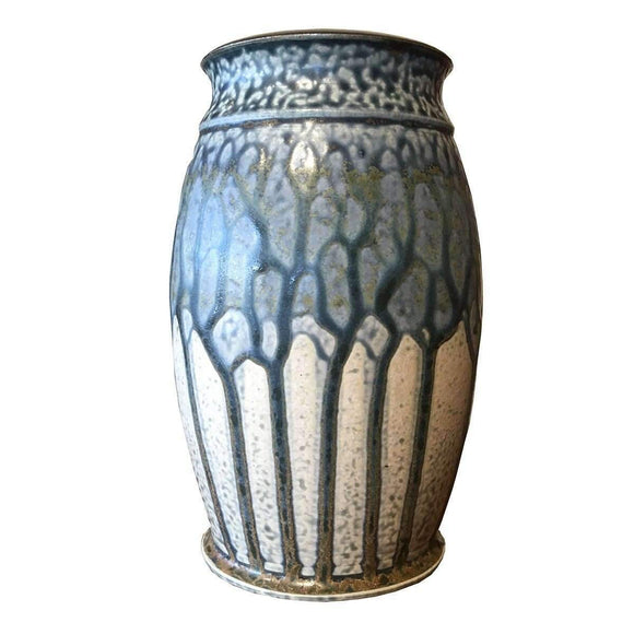 Frank Stofan Decor Traditional Blue Vase - Small