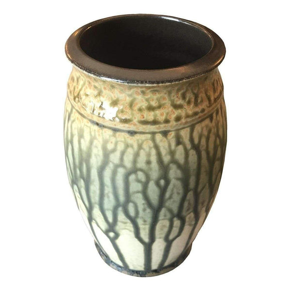 Frank Stofan Decor Traditional Green Vase - Large