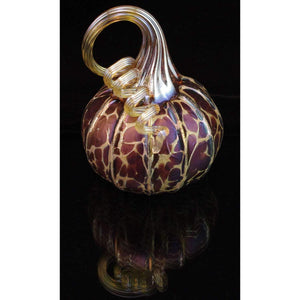 Furnace Glass Works Gifts Blown Glass Pumpkin in Midnight Large