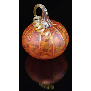 Furnace Glass Works Gifts Blown Glass Pumpkin in Tangelo Large