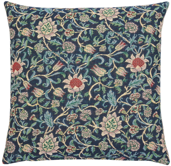 William Morris Evenlode Blue Blue Tapestry Pillow by Hines