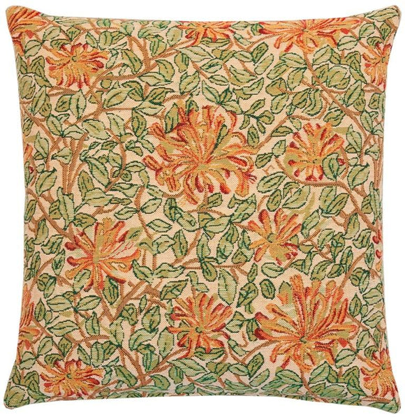 William Morris Honeysuckle Tapestry Pillow by Hines